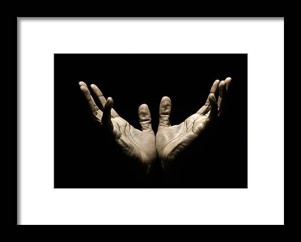 Thank You Framed Print featuring the photograph Hands to Heaven by Juanmonino