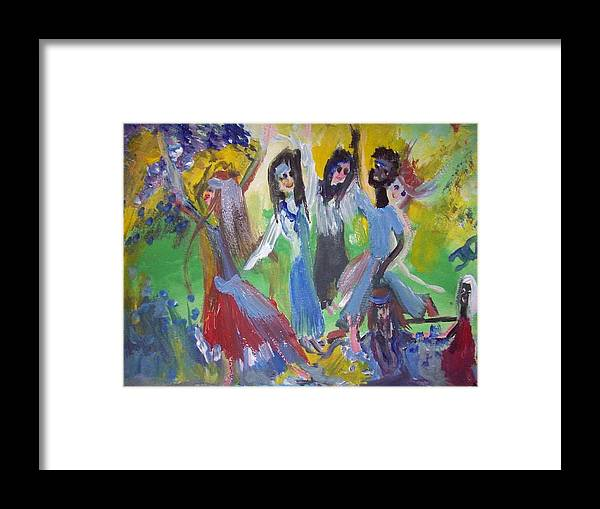 Peace Framed Print featuring the painting Hands Up For Peace by Judith Desrosiers