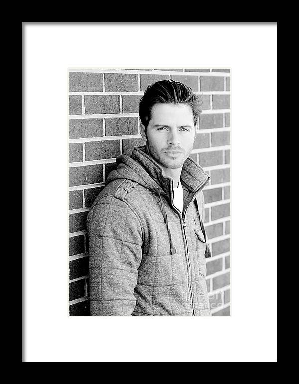 Adult Framed Print featuring the photograph Handsome Man by Jt PhotoDesign
