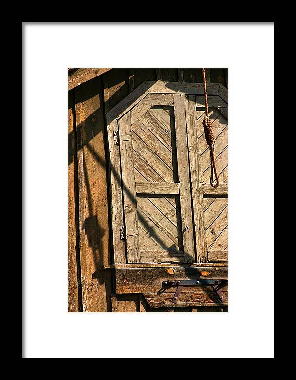 Garroter Framed Print featuring the photograph Hang Em High by Perry Frantzman