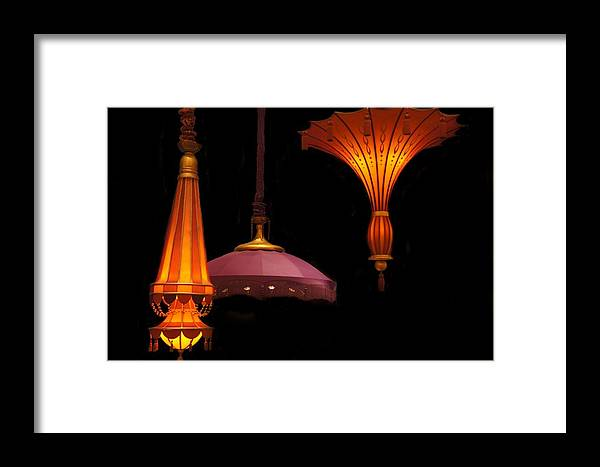 Hanging Lamp Framed Print featuring the photograph Hanging Lamp by Art Spectrum