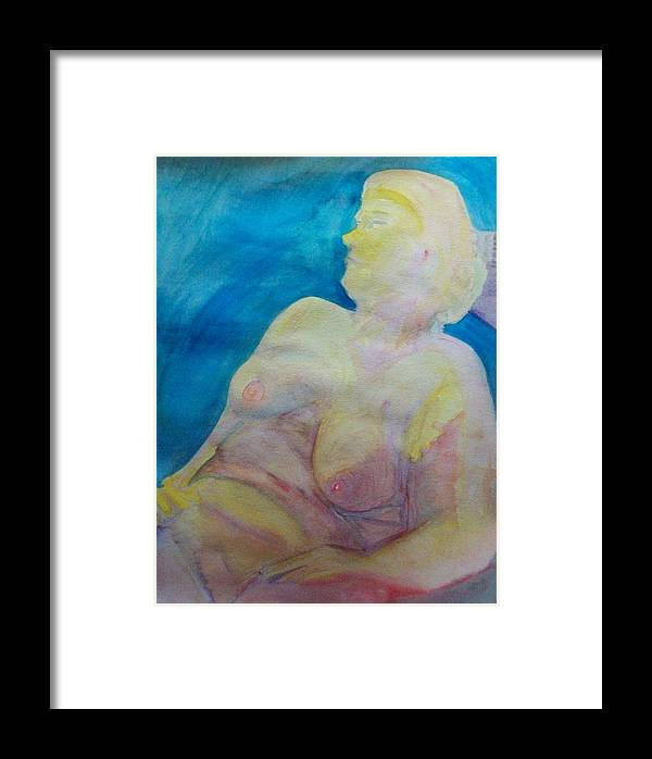 Watercolor Framed Print featuring the painting Hanna At The Muse by James Christiansen