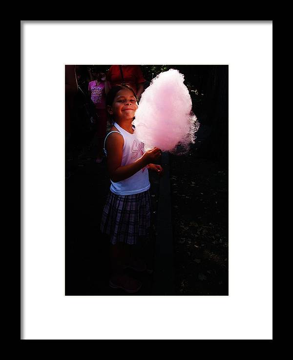 Candy Floss Framed Print featuring the photograph Happiness by Alison Richardson-Douglas
