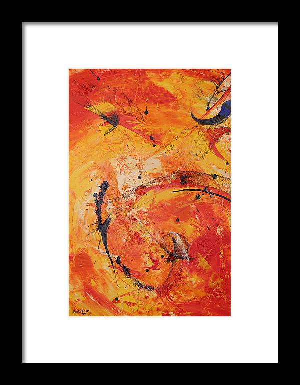 Joy Framed Print featuring the painting Happiness On The Way by Neo Dietrich
