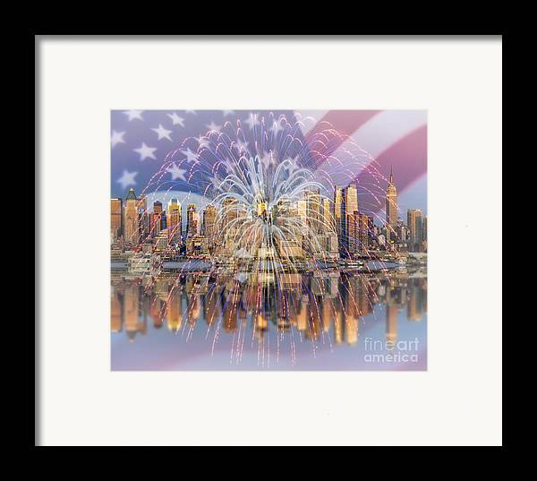 America Framed Print featuring the photograph Happy Birthday America by Susan Candelario