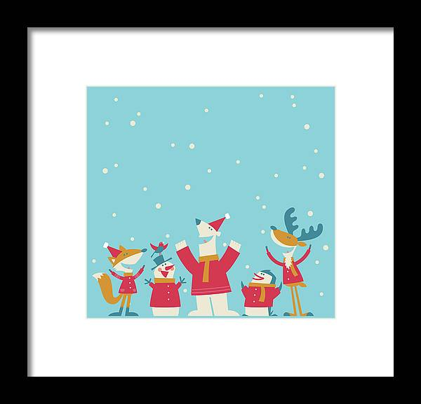 Elf Framed Print featuring the digital art Happy Christmas by Akindo