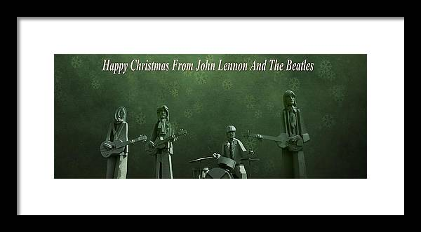 Happy Christmas From John Lennon Framed Print featuring the photograph Happy Christmas From John Lennon by Dan Sproul