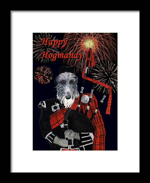 Holiday Framed Print featuring the painting Happy Hogmanay by Stephanie Grant