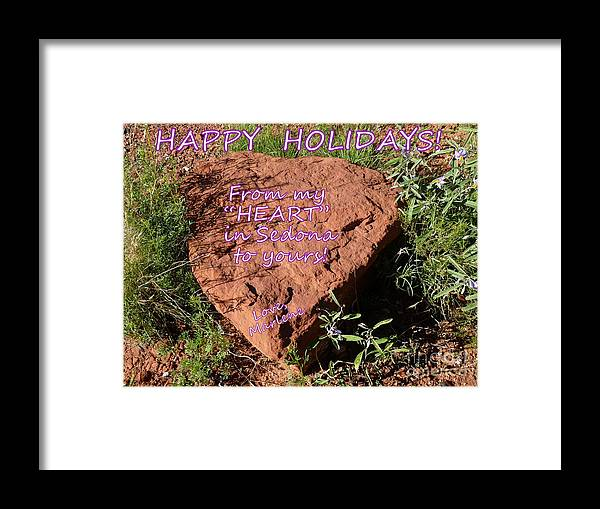 Framed Print featuring the photograph Happy Holidays 2014 by Marlene Rose Besso