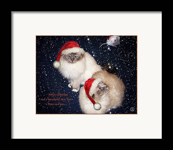 Greeting Card Framed Print featuring the digital art Happy Holidays by Gun Legler