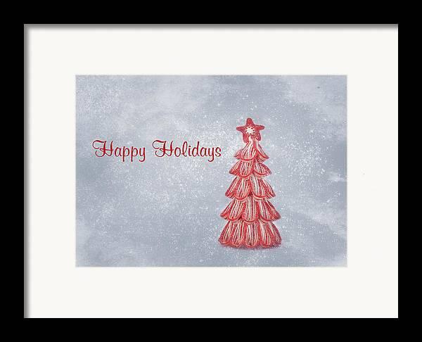 Christmas Card Art Framed Print featuring the photograph Happy Holidays by Kim Hojnacki
