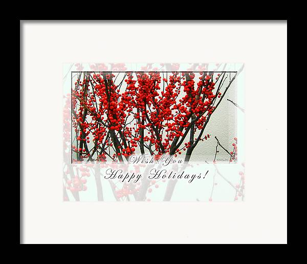 Christmas Framed Print featuring the photograph Happy Holidays by Xueling Zou