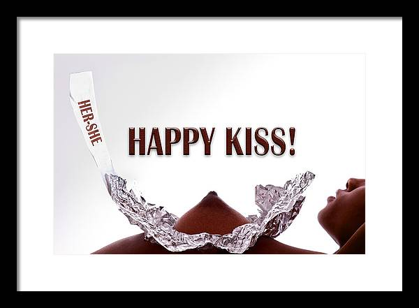 Chocolate Framed Print featuring the photograph Happy Kiss by Dario Infini