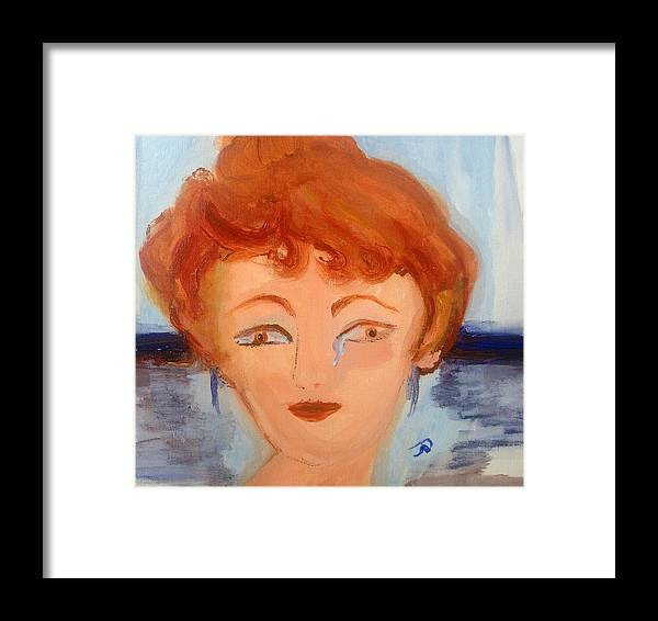Happy Framed Print featuring the painting Happy To See You by Judith Desrosiers