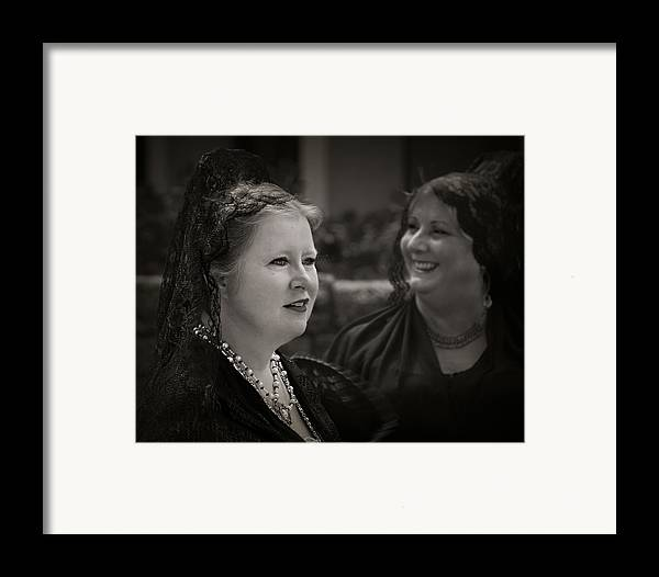 Black And White Framed Print featuring the photograph Happy Widows by Mario Celzner