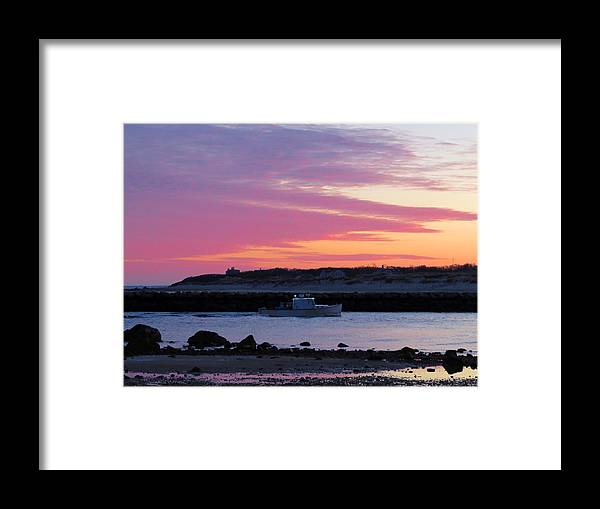 Sesuit Framed Print featuring the photograph Harbor At Dawn by Dianne Cowen