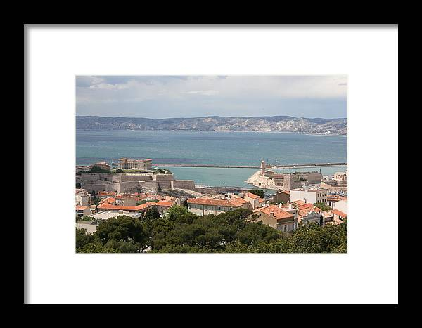 Harbor Framed Print featuring the photograph Harbor Entrance Marseille by Christiane Schulze Art And Photography