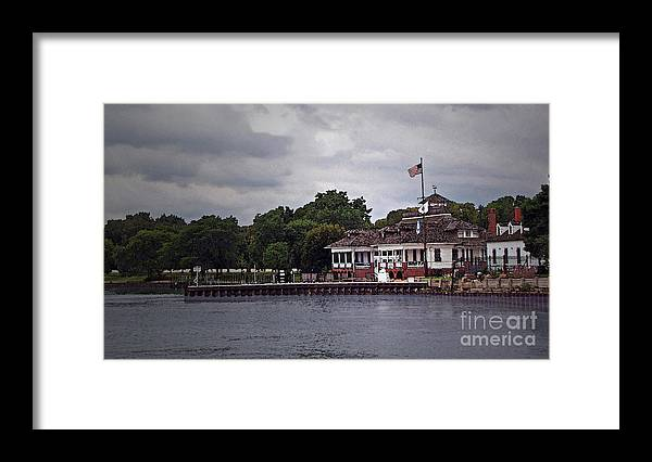 House Framed Print featuring the photograph Harbor House by Cedric Hampton