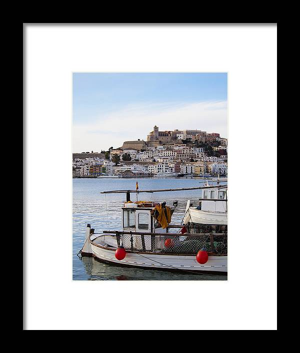 Mediterranean Framed Print featuring the photograph Harbor In Ibiza Town by Karol Kozlowski