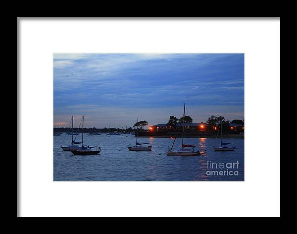 Sunsets Framed Print featuring the photograph Harbor Lights by Dora Sofia Caputo Photographic Design and Fine Art