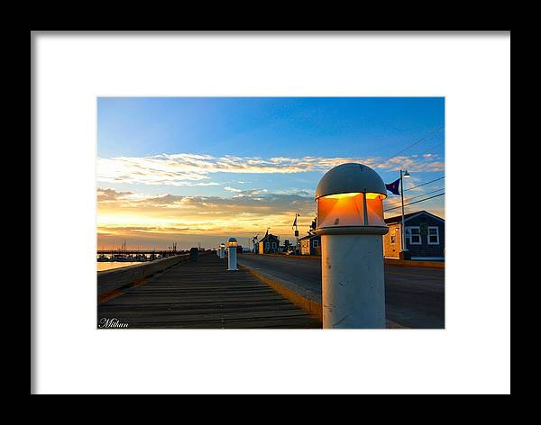 Framed Print featuring the photograph Harbor Pathway by Mithun Das
