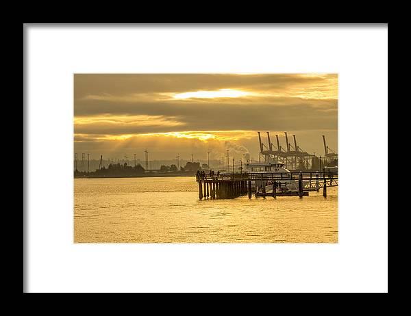 Alki Beach Framed Print featuring the photograph Harbor Sunrise by Calazone's Flics