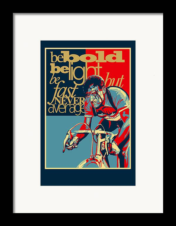 Vintage Tour De France Framed Print featuring the painting Hard As Nails Vintage Cycling Poster by Sassan Filsoof