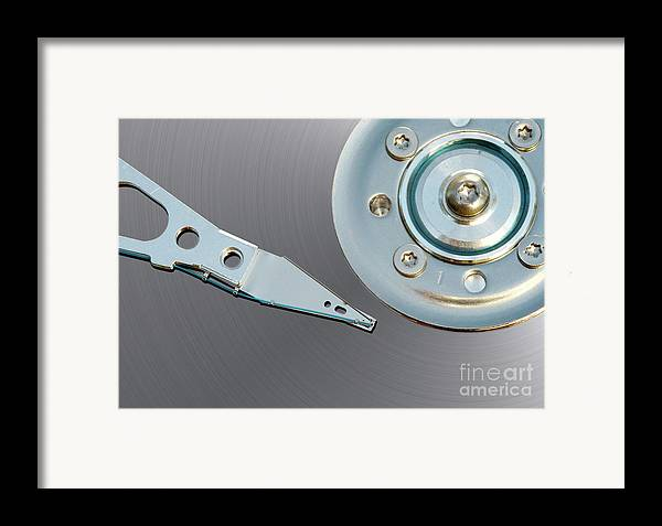 Computer Framed Print featuring the photograph Hard Disc by Michal Boubin