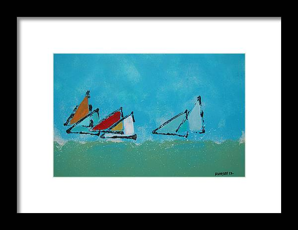 Sail Framed Print featuring the painting Hard To Port by Rhodes Rumsey