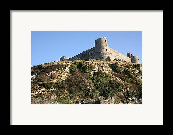 Castles Framed Print featuring the photograph Harlech Castle by Christopher Rowlands