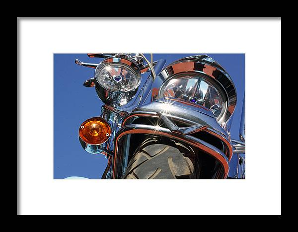 Harley Davidson Framed Print featuring the photograph Harley Close Up by Shoal Hollingsworth