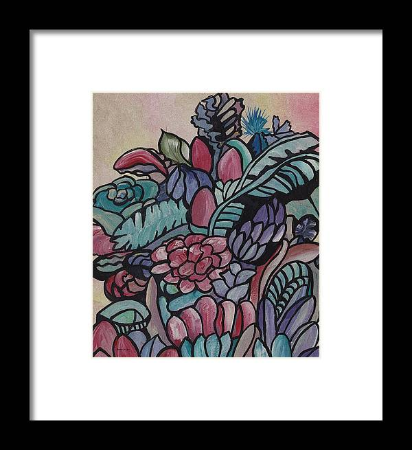 Harmony Hat Framed Print featuring the painting Harmony Hat by Barbara St Jean