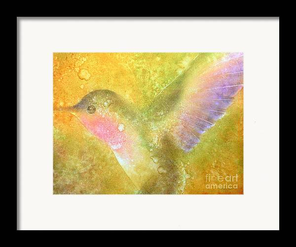 Watercolor Framed Print featuring the painting Harmony by Robert Hooper