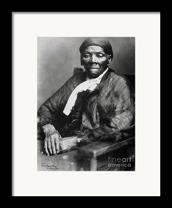 Female Framed Print featuring the photograph Harriet Tubman by American School