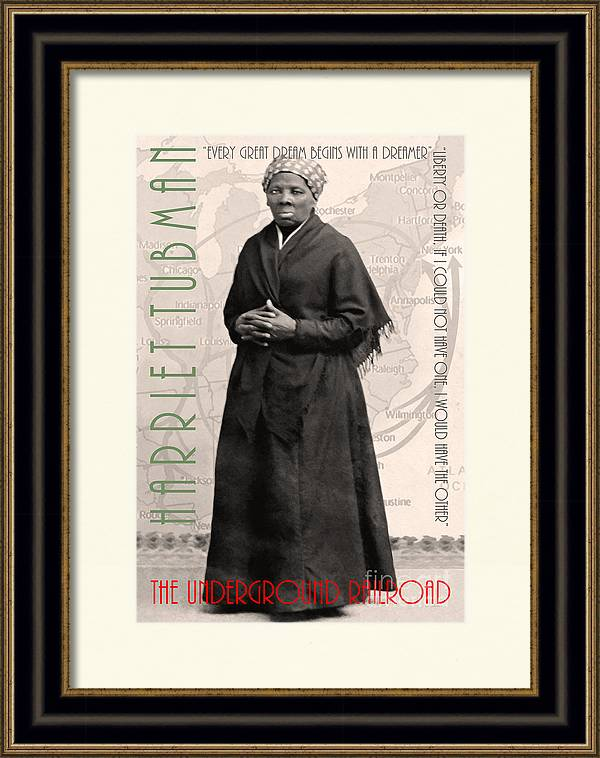 Harriet Tubman The Underground Railroad 20140210v2 with text sepia by Wingsdomain Art and Photography