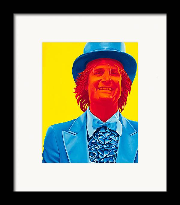 Movies Framed Print featuring the painting Harry Dunne by Ellen Patton