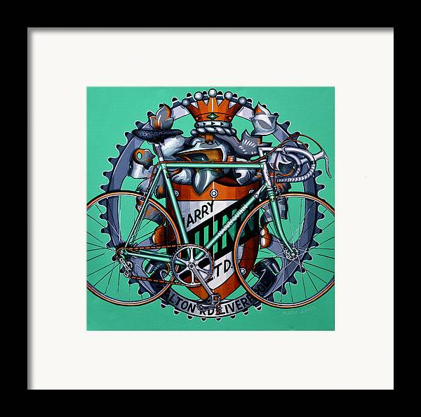 Bicycle Framed Print featuring the painting Harry Quinn by Mark Howard Jones