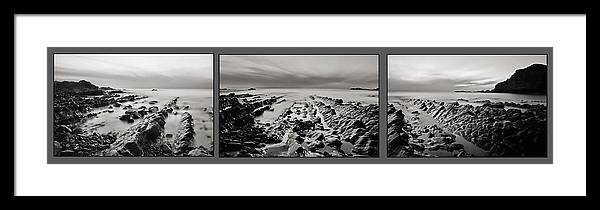 Hartland Beach Framed Print featuring the photograph Hartland Beach Triptych by Pete Hemington