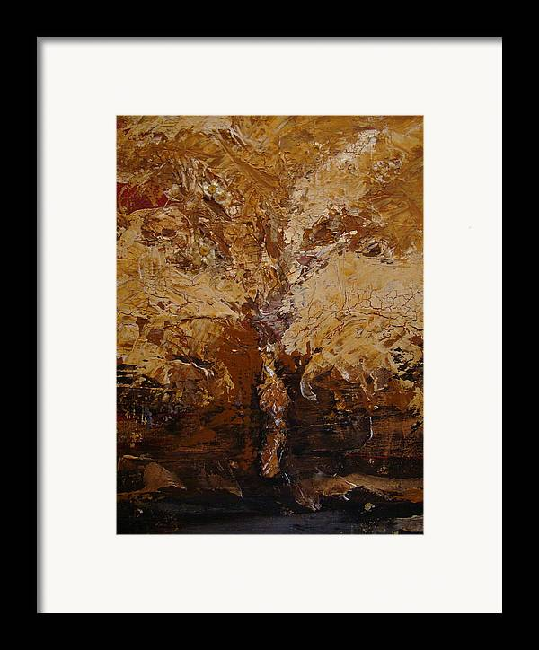 Tree Framed Print featuring the painting Harvest by Holly Picano