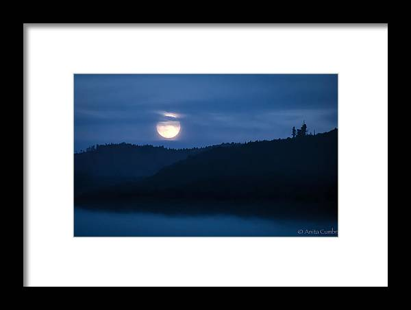 Landscape Framed Print featuring the photograph Harvest Moon by Anita Cumbra
