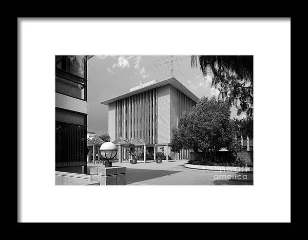 1970 Framed Print featuring the photograph Harvey Mudd College Sprague Memorial Building by University Icons