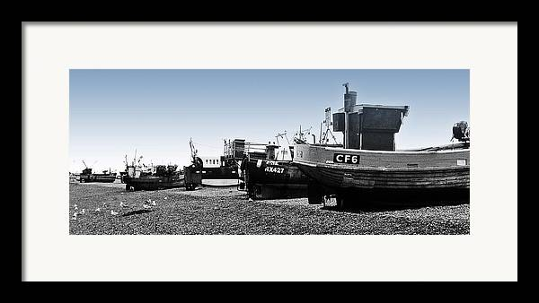Fishing Boats Framed Print featuring the photograph Hastings Fleet by Sharon Lisa Clarke