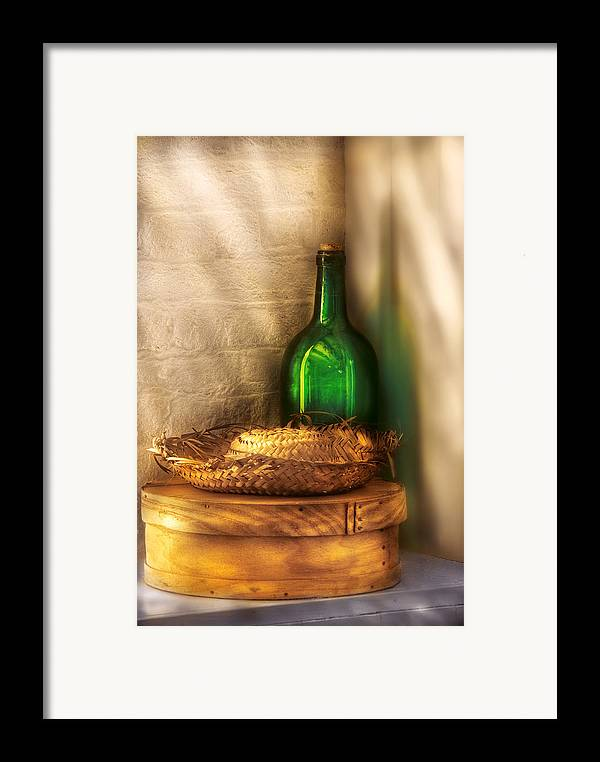 Savad Framed Print featuring the photograph Hat Maker - A Hat Box And It's Hat by Mike Savad