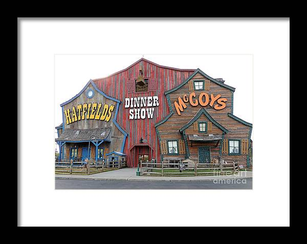 Photograph Framed Print featuring the photograph Hatfields And Mccoys Dinner Show Venue In Pigeon Forge Tennessee by Marian Bell