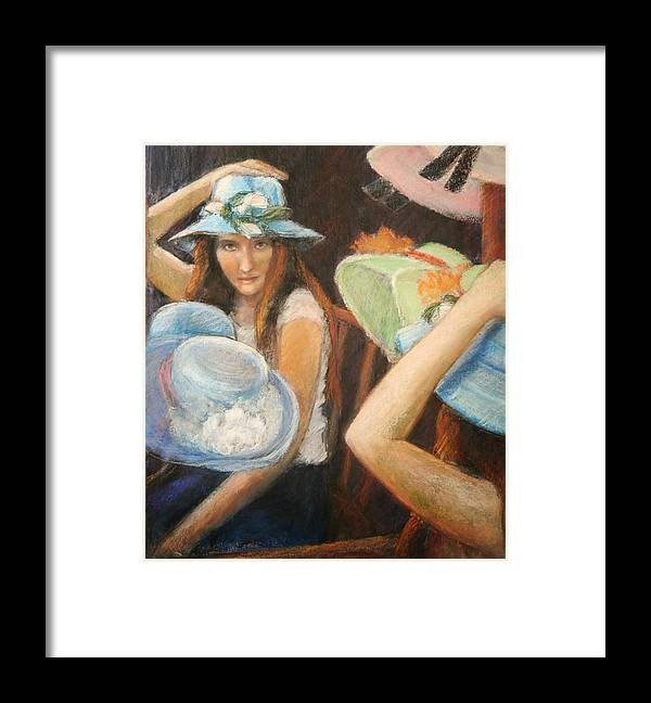 Framed Print featuring the painting Hats by Helen Hickey