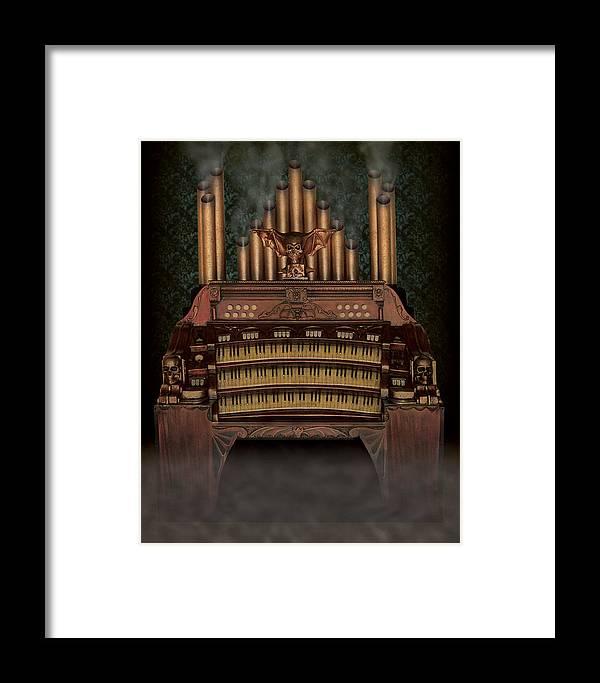 Haunted Pipe Organ Framed Print