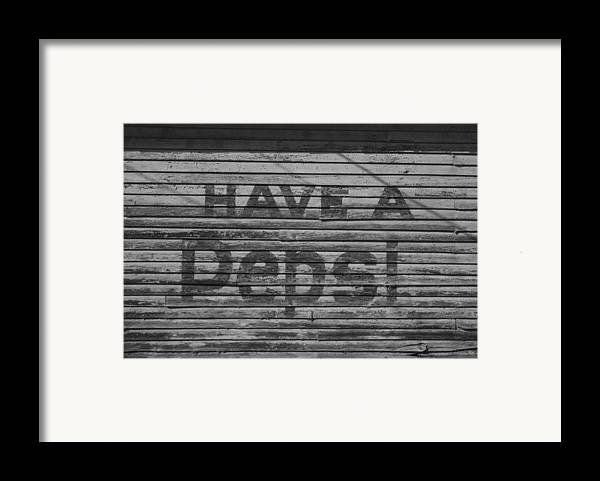 Soda Framed Print featuring the photograph Have A Pepsi by Steven Taylor