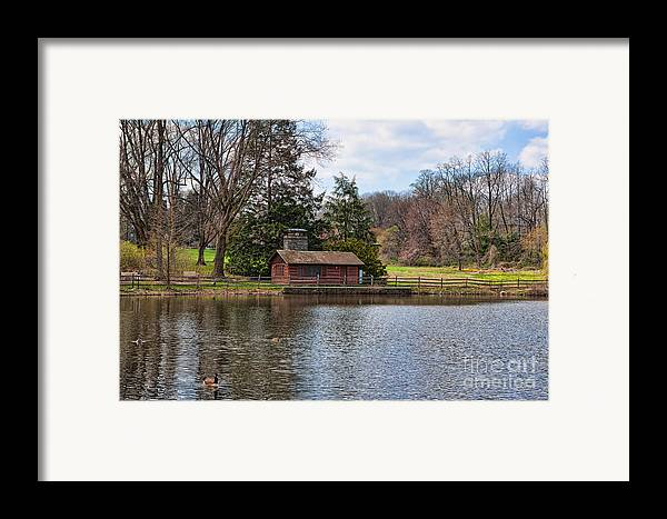 Haverford Framed Print featuring the photograph Haverford Skating Cabin by Kay Pickens