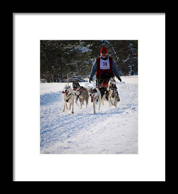 Winter Framed Print featuring the photograph Havin Fun And Doin Work by Eric March