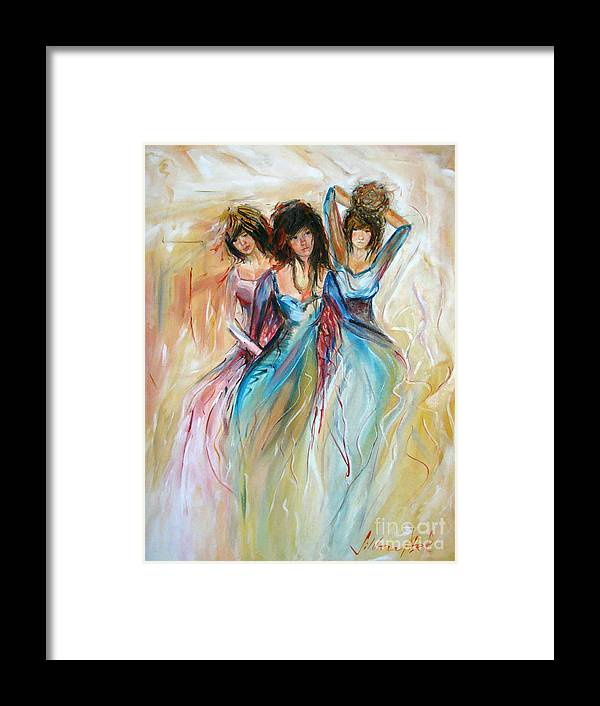Contemporary Art Framed Print featuring the painting Having Fun by Silvana Abel